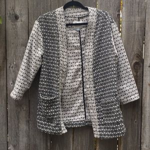 Black and white pattern jacket